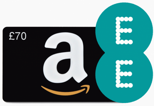 Expired: Exclusive £70 Amazon.co.uk gift voucher with all EE Home ...